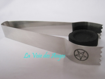 Pentagramm Tongs for Charcoal and incense