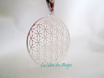 Flower of life silver plated