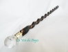 Magic wand from rose wood with rock crystal