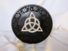 Altar Pentacle Triquetta Rosewood and Metal 16,5cm
